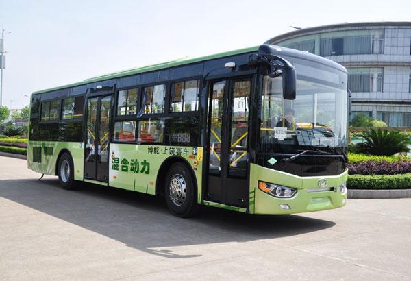 江西首辆气电混合动力公交车在博能客车公司下线